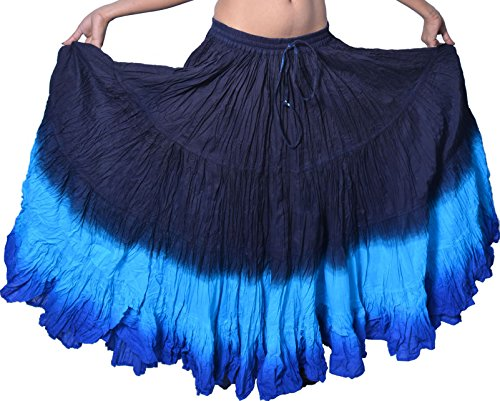 (Wevez Plus Size 40 Inches Long Tribal Fusion 25 Yard Skirt)