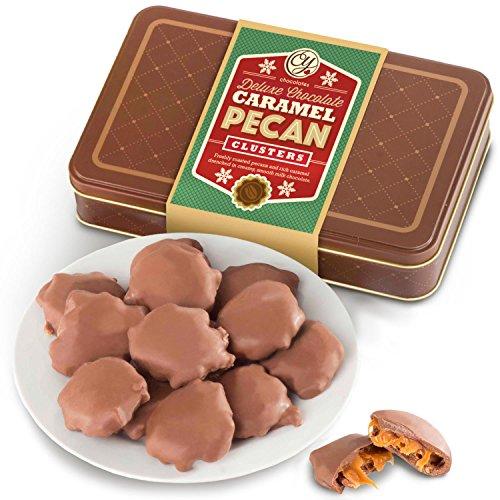 (Milk Chocolate Caramel Pecan Clusters Gift Tin)