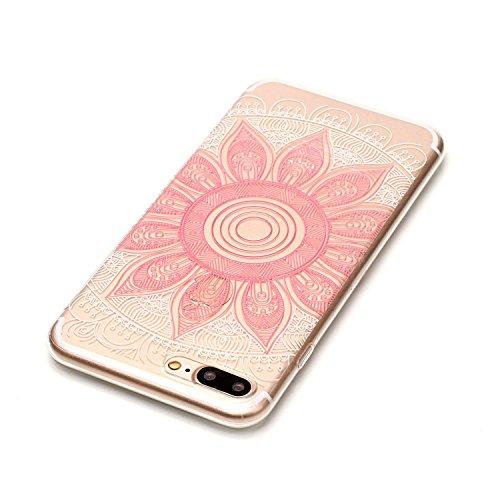 """Hülle iPhone 7 Plus / iPhone 8 Plus , LH Rosa Tara TPU Weich Muschel Tasche Schutzhülle Silikon Handyhülle Schale Cover Case Gehäuse für Apple iPhone 7 Plus / iPhone 8 Plus 5.5"""""""