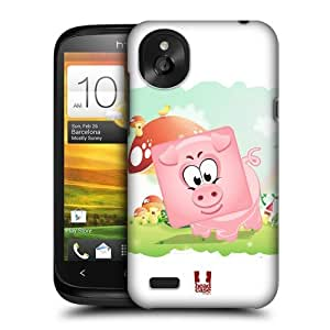 DIY Case Designs Full Pig Square Face Animals Protective Snap-on Hard Back Case Cover for HTC Desire X by ruishername