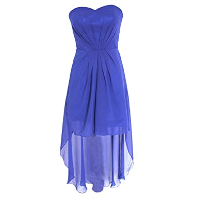 SZMH Womens Royal Blue High Low Prom Dress Champagne Size US8