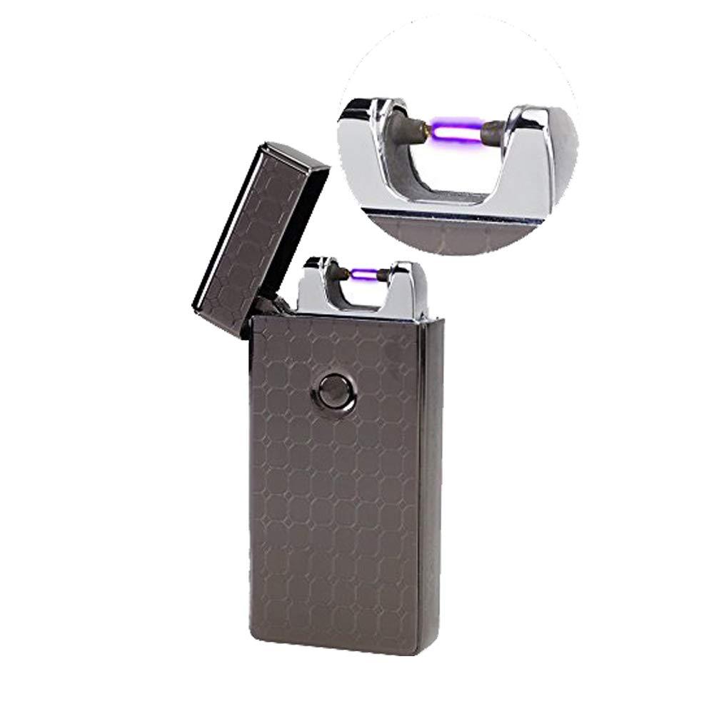 USB Accendino Arco elettrico ricaricabile Sigaretta Accendino (Black) Topsense