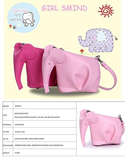 sintética Rosa de correa de hombro con diseño piel una de el para Bolso elefante Badiya EqF1wZEx