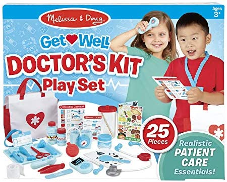 Melissa Doug Get Well Doctor S Kit Play Set The Original 25 Pieces Great Gift For Girls And Boys Kids Toy Best For 3 4 5 And 6 Year Olds