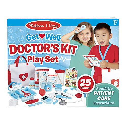 Melissa & Doug Get Well Doctor's Kit Play Set, The Original (25 Pieces, Great Gift for Girls and Boys - Kids Toy Best for 3, 4, 5, and 6 Year Olds) from Melissa & Doug