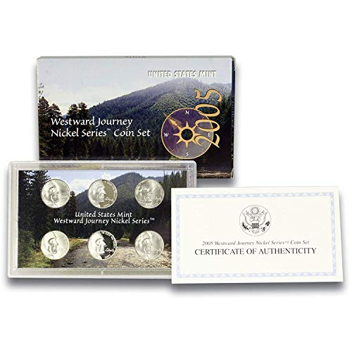 2005 P,D,S Westward Journey Nickel Series Coin Set in Original Government Packaging ()