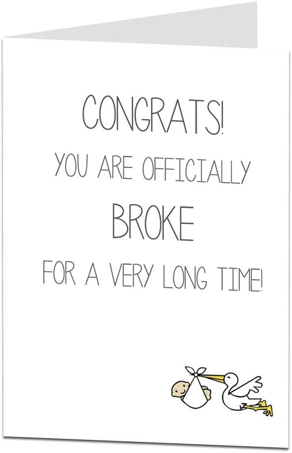 PRINTABLE Congratulations Congratulations New Baby Funny Pregnancy Card Parents To Be Card Funny Expecting Card Funny New Baby Card