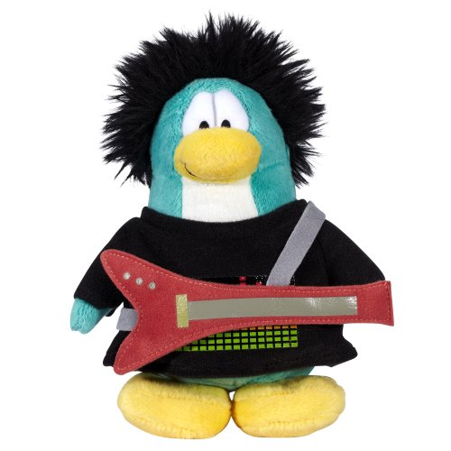 "Club Penguin Collector 6.5"" Penguin Plush - Series 12 New Rocker"