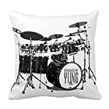 Personaldesign 18In * 18In Of Creative Home Famous Style Bedding Sofa Cushion Cover Pillowcase Drum Set Throw Pillows