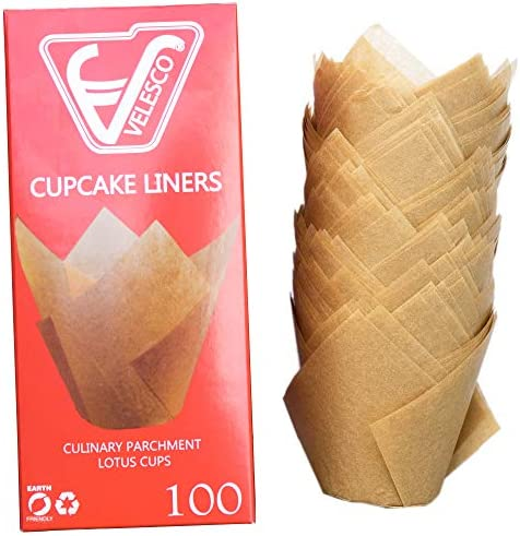 Cupcake Wrappers unbleached chemical Velesco