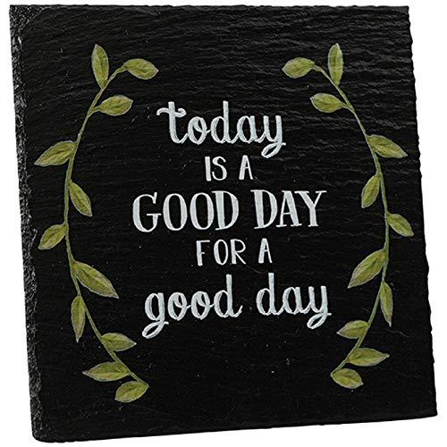 - Carson Good Day Slate Easel Plaque