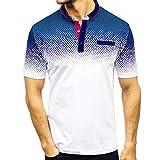 GDJGTA Mens Tops Solid Color Personality Men s Casual Slim Short Sleeve Pockets T Shirt Top Blouse