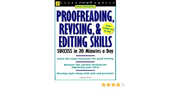 Proofreading, Revising, & Editing Success (Skill Builders): Amazon ...