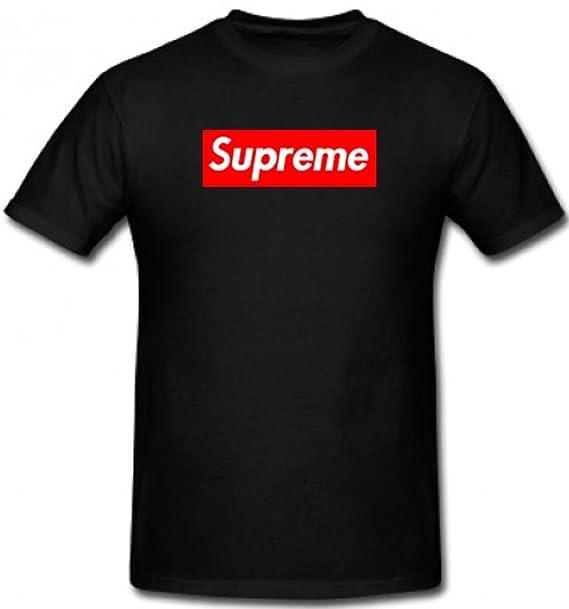 Camiseta con diseño de logotipo de Supreme, para hombre y mujer: Amazon.es: Ropa y accesorios