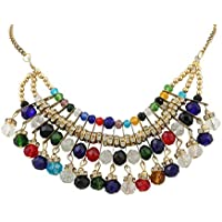 Ganesha INC High grade quality multi color rhinestone fashion style Designer Jewelry necklace for Women, Girls and Teens.