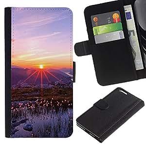 KLONGSHOP // Tirón de la caja Cartera de cuero con ranuras para tarjetas - Naturaleza Hermosa Forrest Verde 83 - Apple Iphone 6 PLUS 5.5 //