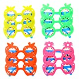fruits party - LUOEM Kids Pineapple Eyeglasses Party Sunglasses Favors Hawaii Fruit Eye Glasses for Hawaii Beach Luau Party Decoration,Pack of 12