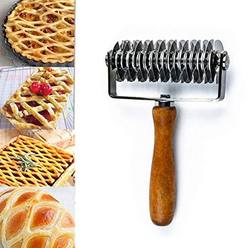 ZuoLan Rostfreier Stahl Gitterroller Gitterwalze Backen-Werkzeug f/ür Pizza Kuchen Brot
