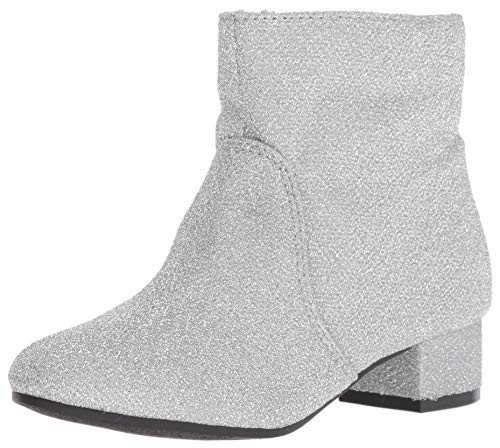 Nine West Girls' Alexius Fashion Boot, Silver Sparkle, M010 M US Little Kid -