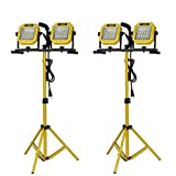 "Case of 2 DUAL 30 SMD LED FLOOD LIGHTS WITH 36"" TRIPOD. 2000 LUMEN"