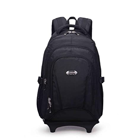 PLYY Mochilas Ligero 2 Ruedas giran 360 ° Ordenador portátil Daypack 15,6 Mochila para