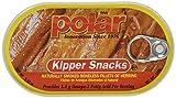 Polar Kipper Snacks - Smoked & Boneless Herring Fillets, 3.53 oz can (Pack of 3)