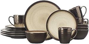 Gourmet Basics by Mikasa Anastasia Cream 16-Piece Dinnerware Set, Assorted