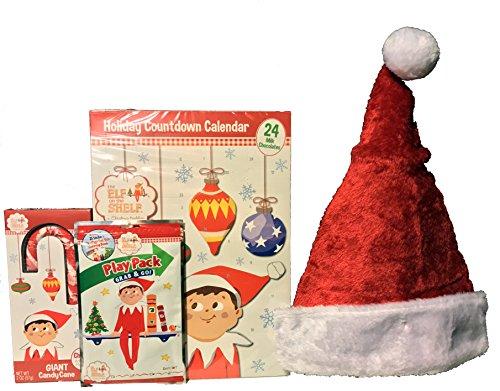 Elf on the Shelf Holiday Christmas Countdown Calendar Bundle of 4 (Elfs Hat)