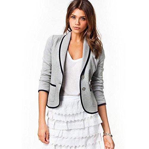 Mose Women Business Coat Blazer Suit Long Sleeve Tops Slim Jacket Outwear Size S-16XL