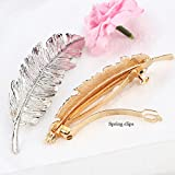 Pixnor-2pcs-Leaf-Design-Punk-Women-Girl-Hair-Clip-Pin-Claw-Barrettes-Accessories