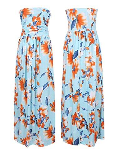 Maxi 2 Floral Longue Robe Bohme Plage de Couleur Imprim Bretelle Robes Femmes sans carinacoco t Bustier Robe tBawqgUBx