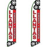 2 (two) Pack Tall Swooper Flags Llantas (Tires) Nuevas Y Usadas