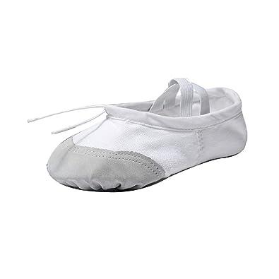 DAIYO Zapatos de Ballet de Lona elásticos Blandos para ...