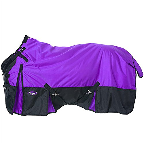 PURPLE TOUGH-1 EXTREME 1680D WATERPROOF POLY TACK HORSE TURNOUT BLANKET 250 GSM CROSS SURCINGLE by Tough 1