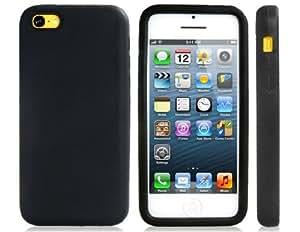 Conseguir Caja suave del silicón para el iPhone 5C Best Seller (Negro)