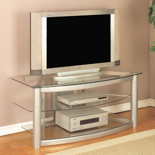 powell-matte-silver-plasma-stand