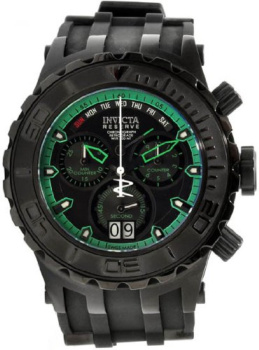 invicta-12345-mens-reserve-chronograph-stainless-steel-case-rubber-strap-black-and-green-dial-watch