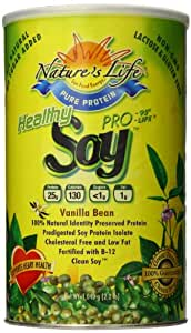 Nature's Life Soy, Healthly Pro-95/Prolife Protein, Vanilla Bean, 2.2-Pounds