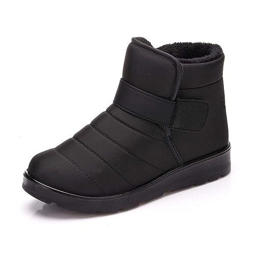 Botas para Mujer Botines de Nieve Al Aire Libre Impermeables Ultralight  Calientes Invierno Zapatos Piel Forradas  Amazon.es  Zapatos y complementos d5c28529801b1