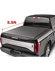 oEdRo Roll up Truck Bed Tonneau Cover Compatible with 2015-2019 Ford F-150   Styleside 5.5' Bed