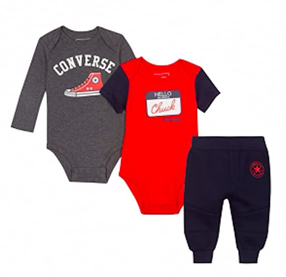 7e0263536 Converse Baby Boys 3 Piece Vests and Joggers: Amazon.co.uk: Clothing