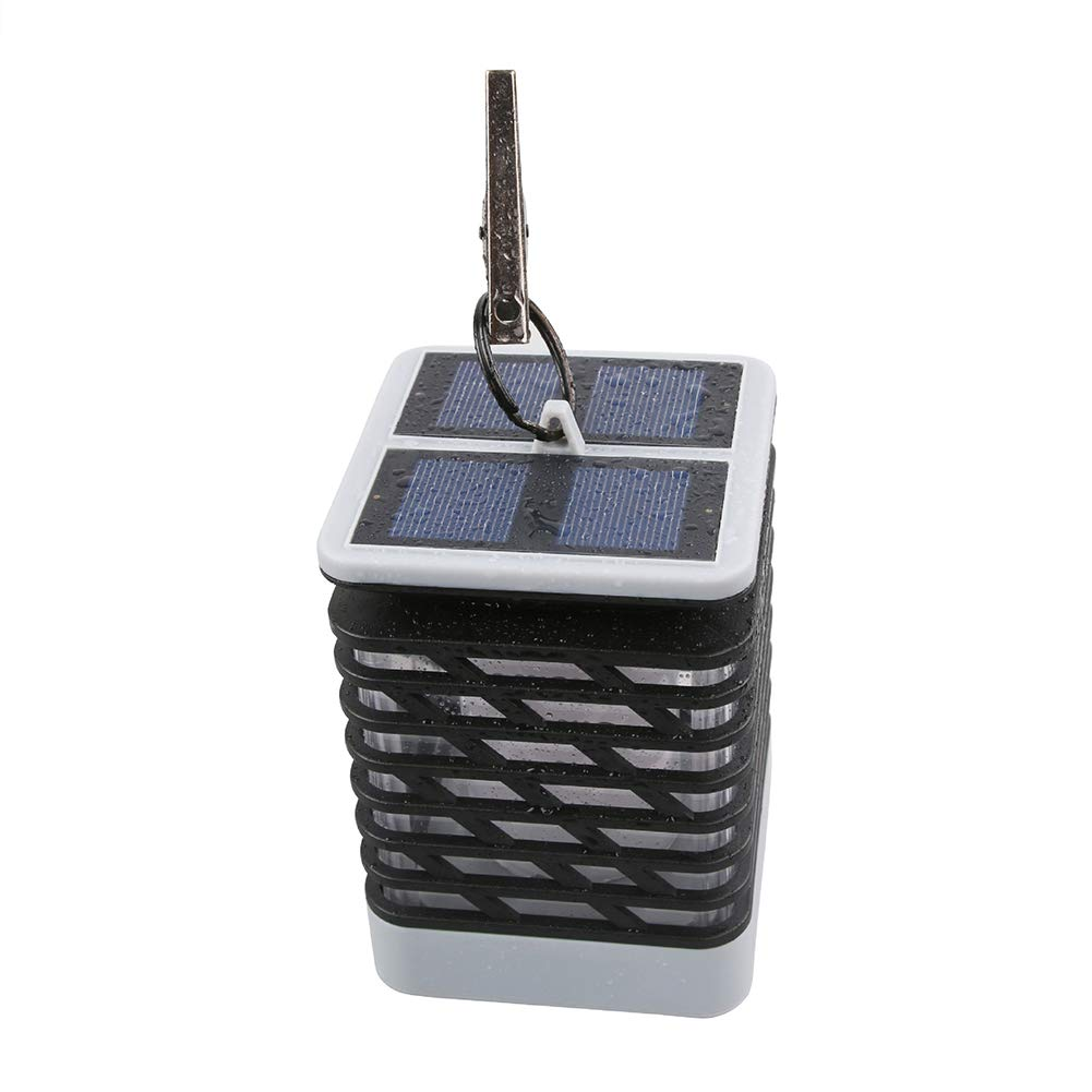 SEniutarm Solar Flame Lantern Waterproof LED Wall Light Outdoor Garden Lamp Hanging Decor