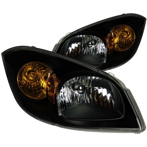 Anzo USA 121154 Chevrolet Cobalt Black Headlight Assembly - (Sold in Pairs) ()