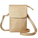 MINICAT Women Small Crossbody Bag Cell Phone Purse Wallet With Magnetic Button(Champagne Gold)