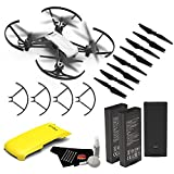 Ryze Tello Quadcopter Drone with 720P HD Camera Live Video and VR, Educational and Interactive Toy for Kids & Beginners(without controller)- Essential Bundle + Yellow Drone Cover