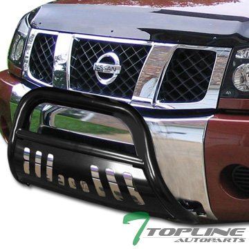 Topline Autopart Black Bull Bar Brush Push Bumper Grill Grille Guard For 04-15 Nissan Titan Armada (Nissan Titan Accessories Grill compare prices)