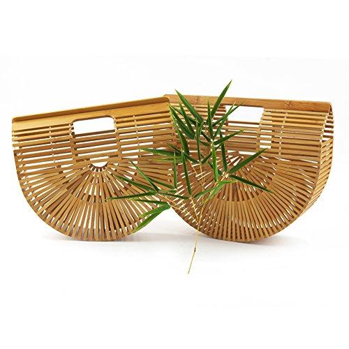 Womens-Top-Handle-Bamboo-Handbag-Summer-Beach-Tote-Bag