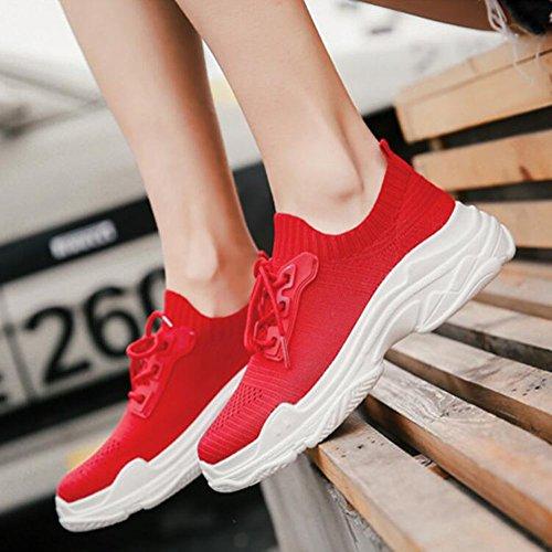 da traspiranti leggere corsa Scarpe da Sneakers Rosso Scarpe da GAOLIXIA Rosso ginnastica trekking mesh Scarpe accoglienti viaggio Primavera Outdoor Bianco Scarpe in casual da donna Estate Nero da Scarpe OFqP7rzwO