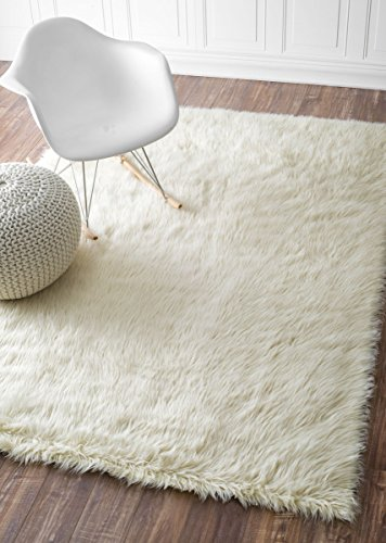 Nuloom 3' x 5' Cloud Shag Rug in White