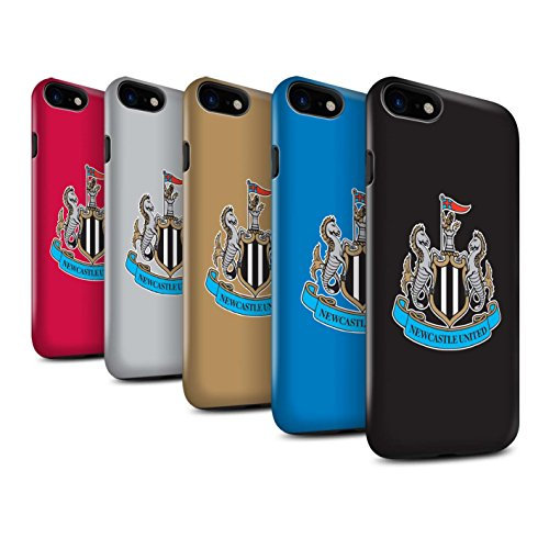 Officiel Newcastle United FC Coque / Brillant Robuste Antichoc Etui pour Apple iPhone 8 / Pack 12pcs Design / NUFC Crête Football Collection
